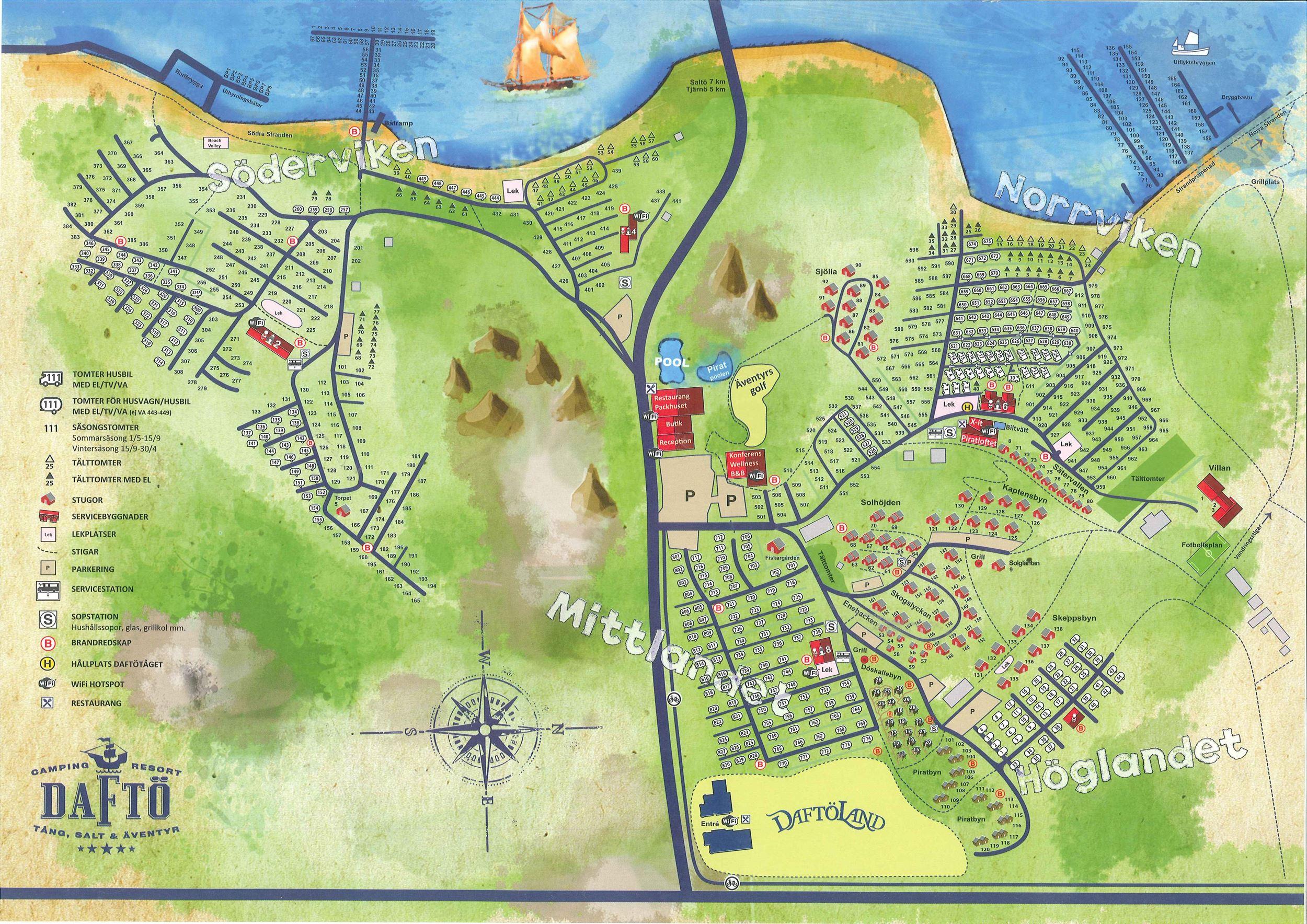 kart over daftø camping Daftö Camping Resort / Stugor, Bilder, Stugbyar, Strömstad  kart over daftø camping