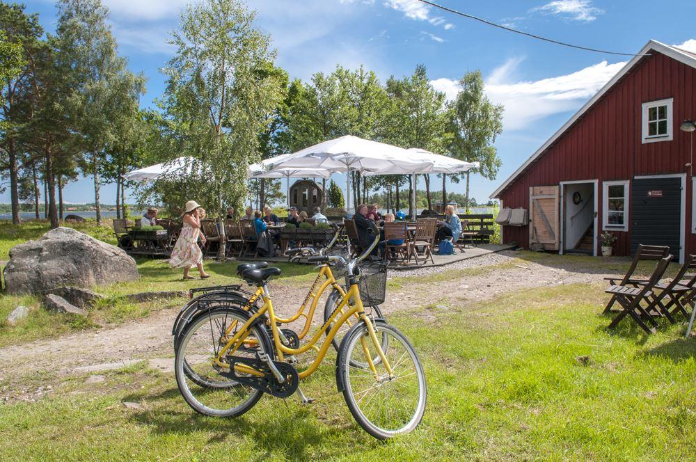 Cykeluthyrning på Hasselö.