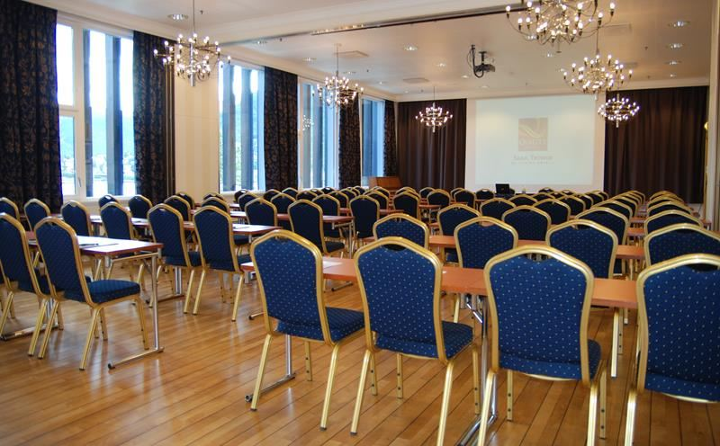 © Quality Hotel Saga, 7 conference and banqueting rooms with a capacity of 180 people in the largest hall. Coffee/tea, fruits, cakes, ice cream and popcorn are available to all of our conference participants.