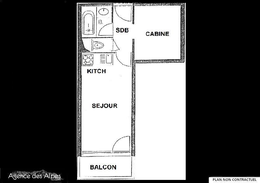 Studio cabine 4 pers ski aux pieds/ VILLARET 704