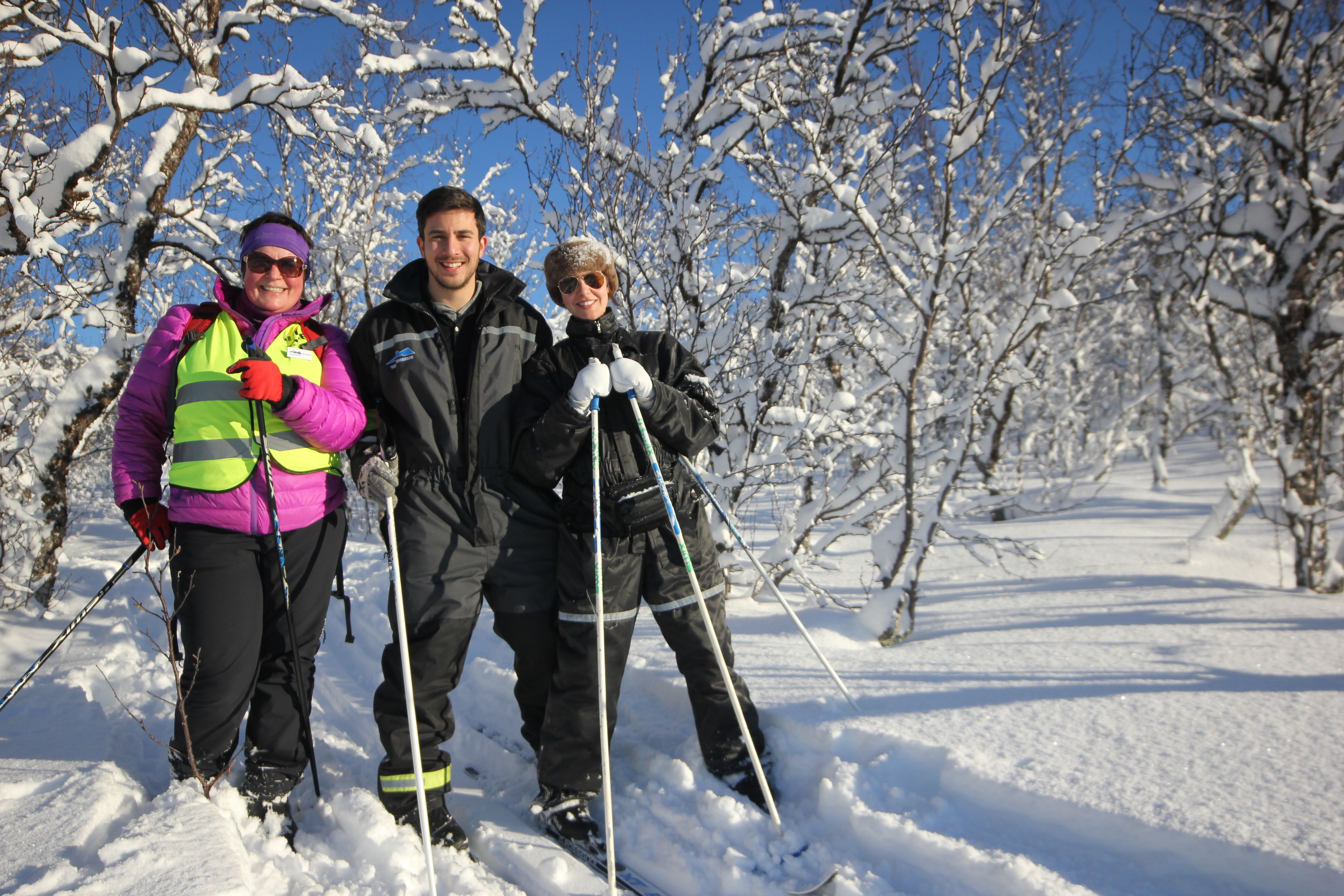 Cross-Country Skiing on the Edge of Tromsø – Daytime – Aurora Alps
