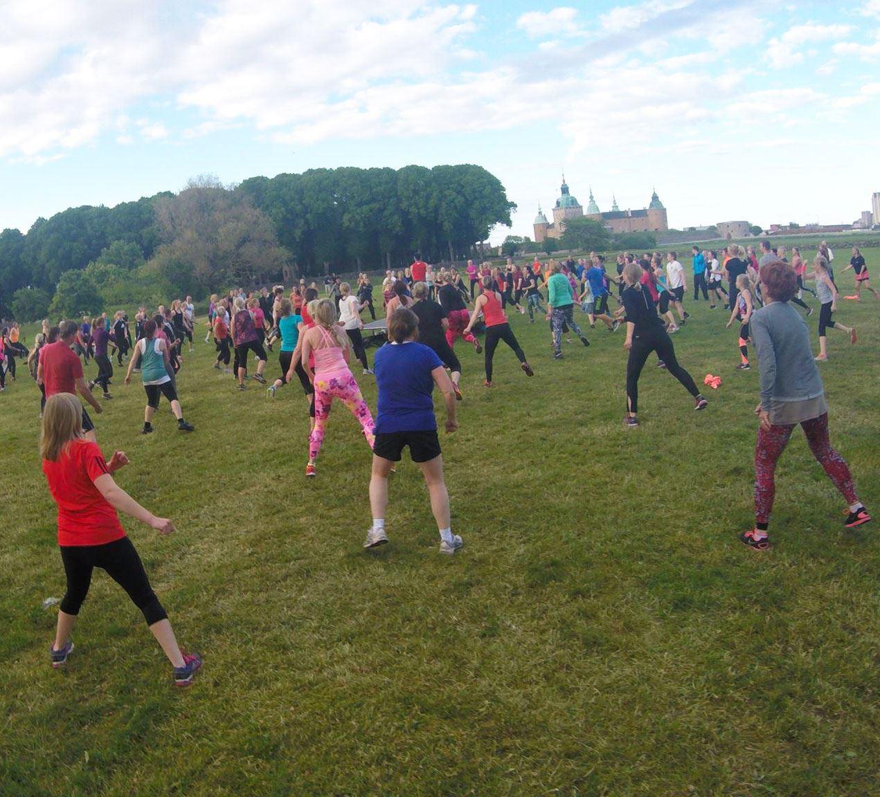Gratis uteträning i Kalmarsundsparken