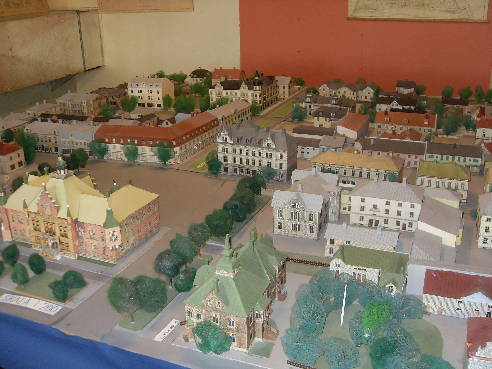 Visning av Umeå-modeller i miniatyr - Folke Hübinette