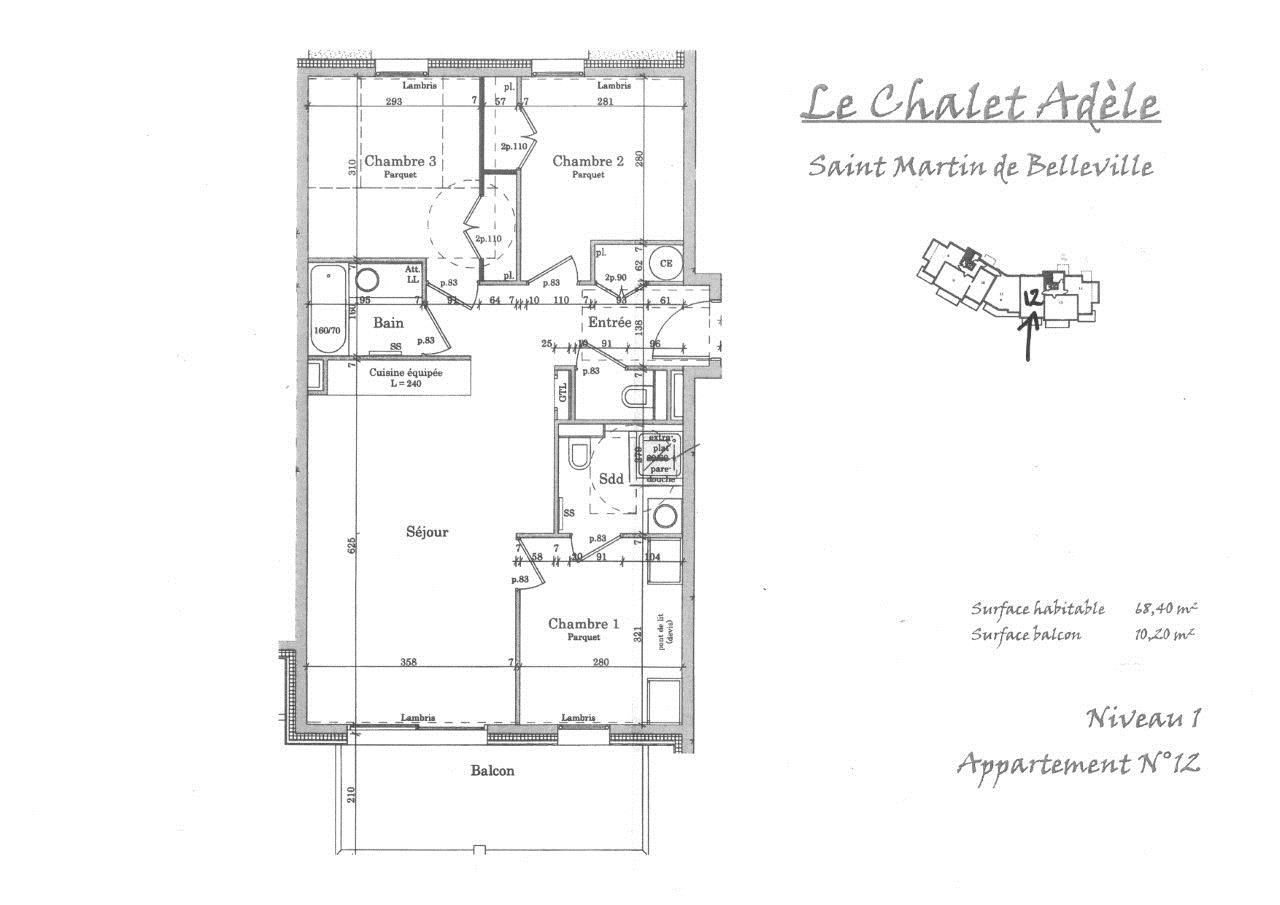 4 Pièces 6 Pers / CHALET ADELE 12