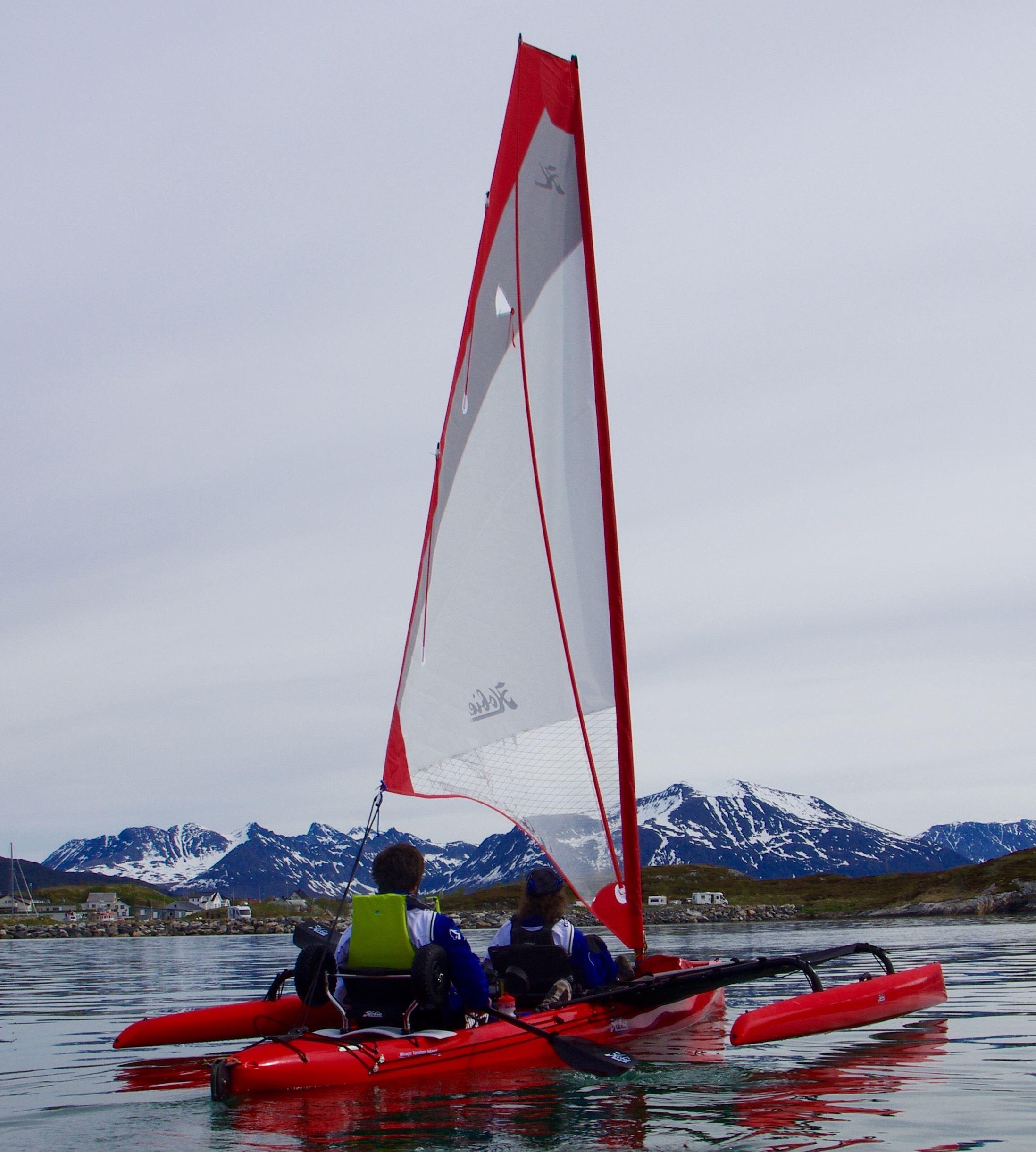 """69Nord,  © 69Nord, Dagstur hvalsafari med """"sit on top"""" Hobie kayak på Kvaløya  - 69Nord Sommarøy Outdoor Center"""