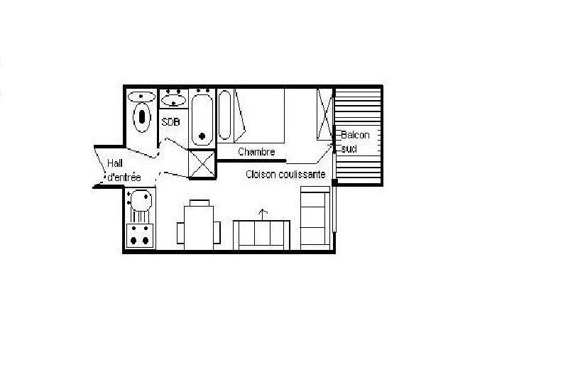 2 Rooms 4 Pers ski-in ski-out / BOEDETTE 310