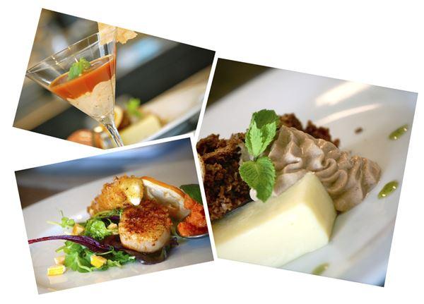 Collage av bilder på maträtter.