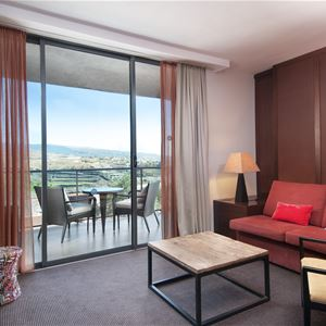 Utsikt över golfbanan Hotell Sheraton Gran Canaria Salobre Golf Resort, Las Palmas Gran Canaria