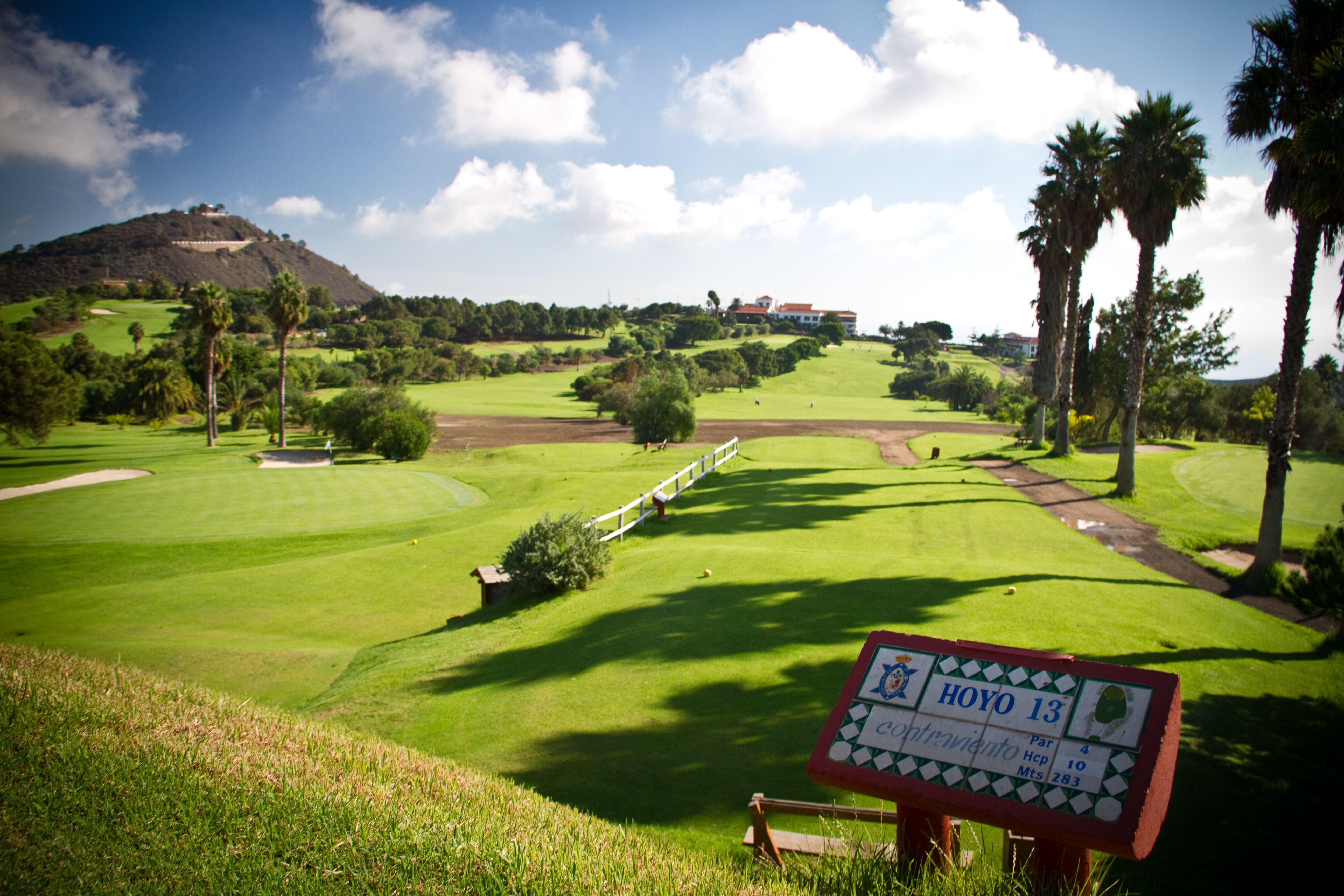 Golfbana på Bandama Golf Hotell, Santa Brigida Gran Canaria