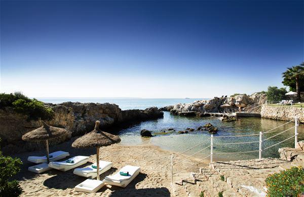 Strand vid Hotell Gran Melia de Mar, Illetas Mallorca