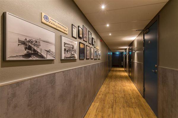 Korridor i vandrarhemmet Keron