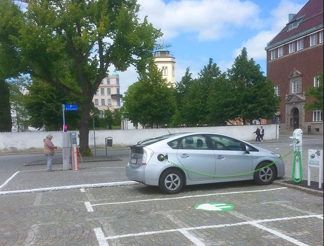Charging stations for electric cars