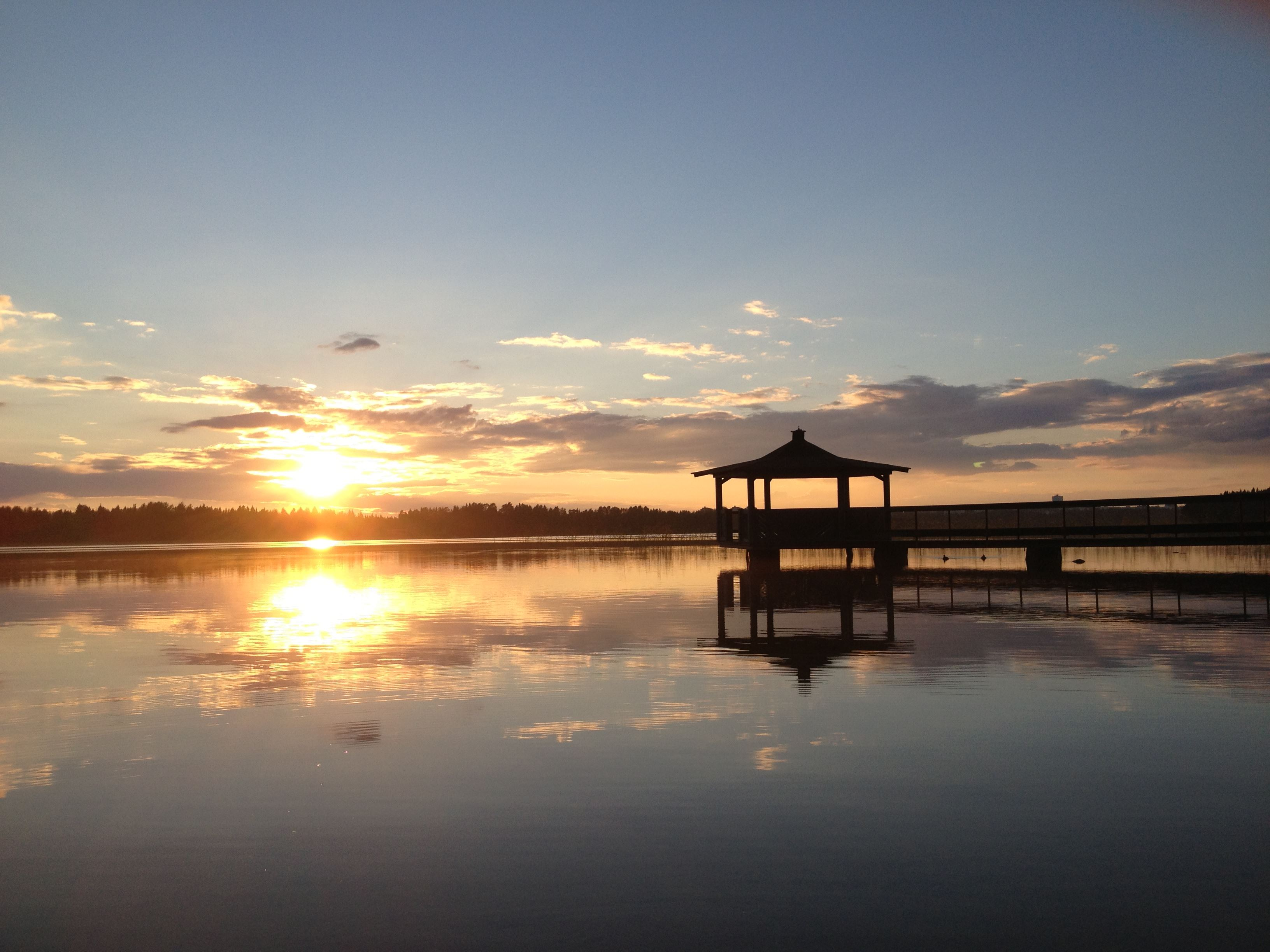 Badplatser kring Nydalasjön