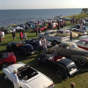 Veteran car gathering