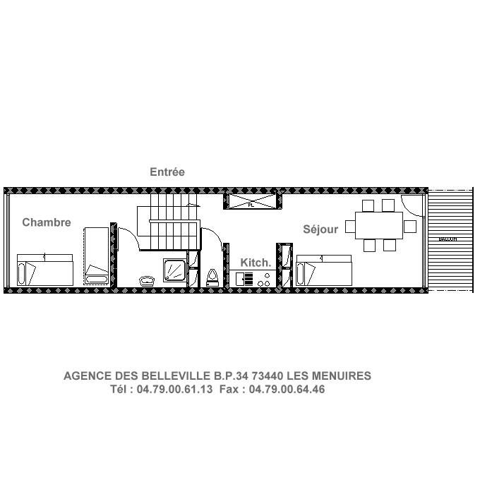 2 Rooms 5 Pers ski-in ski-out / LES LAUZES 18