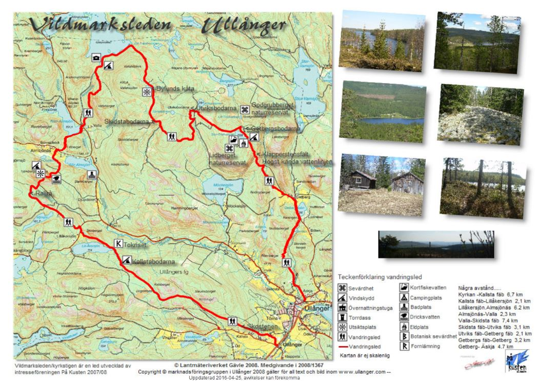 © Marknadsföringsgruppen i Ullånger samt Lantmäteriverket, Church path-Wilderness Trail