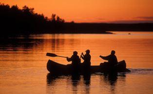 Canoeing in the Fegen area