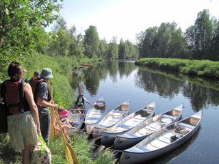 Canoe paddling with UmeNatur