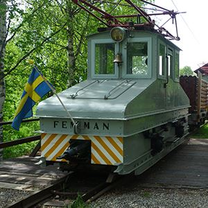 Ride on a train at Robertsfors Bruksmuseum