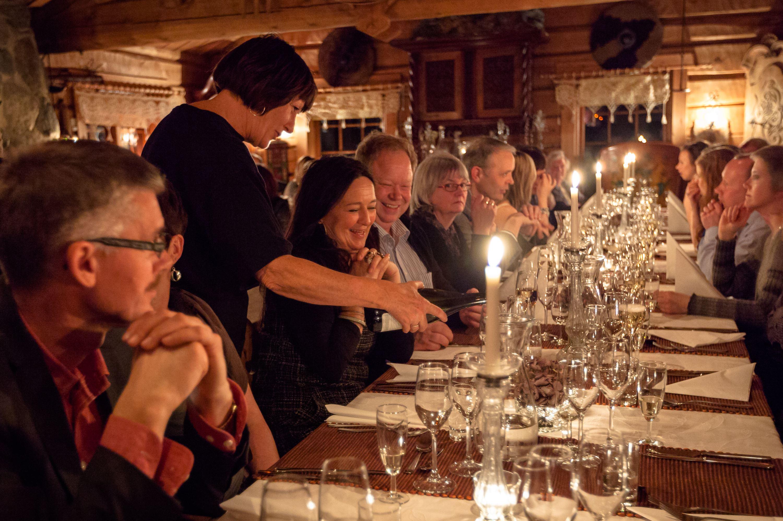 Restaurant dining experience at Hildur's Urterarium