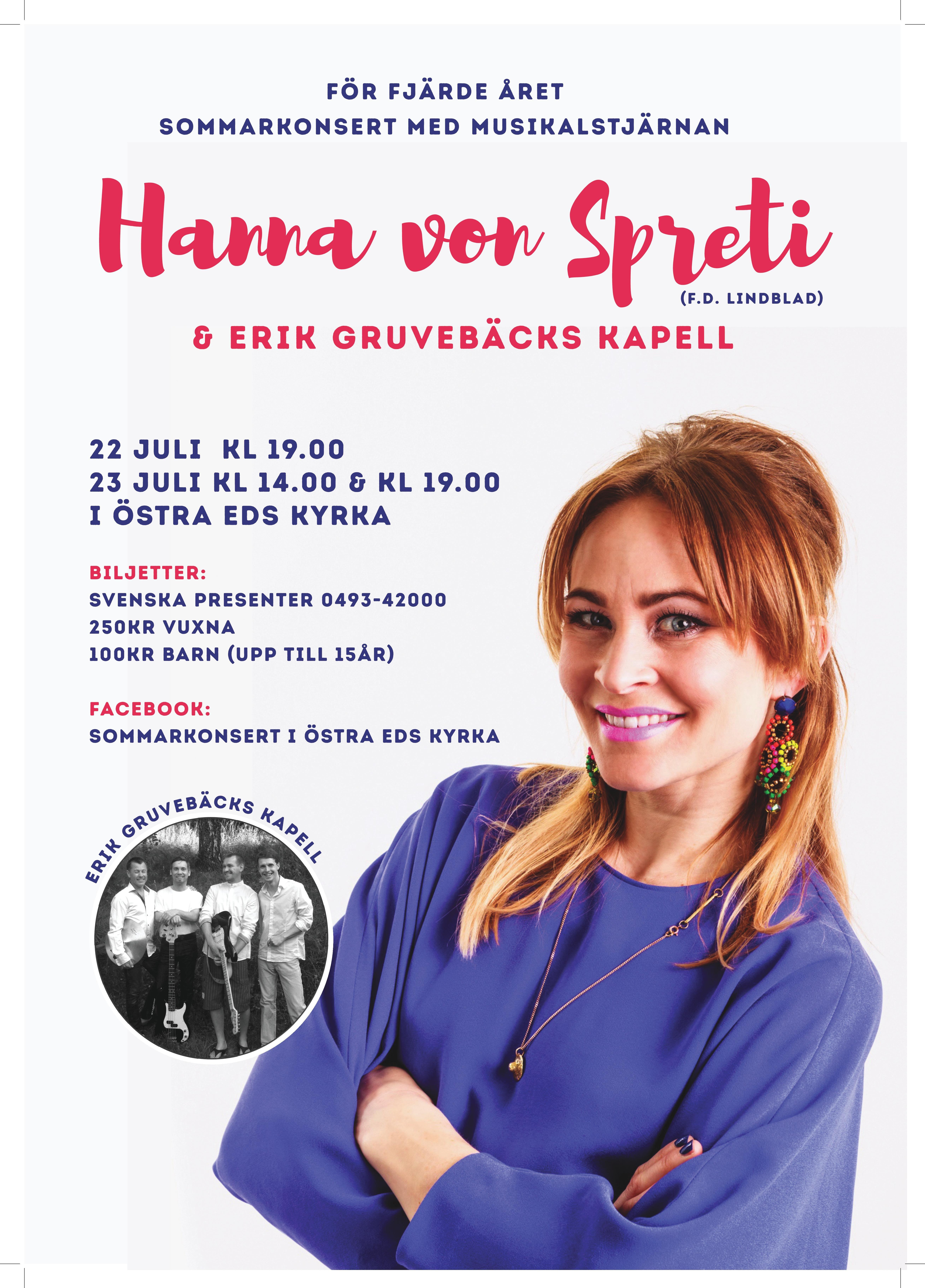 Sommarkonsert med Hanna von Spreti (fd Lindblad) & Erik Gruvebäck