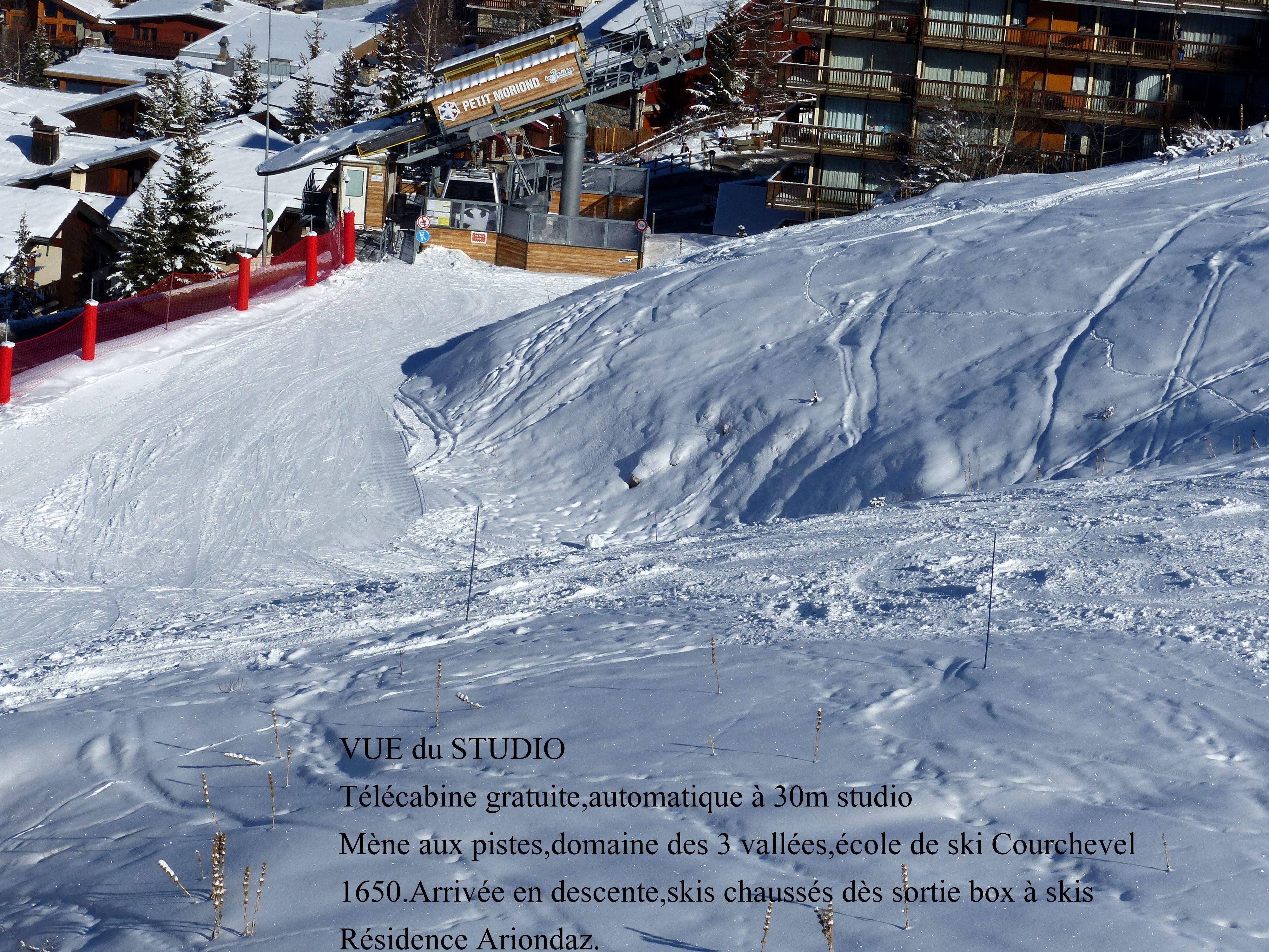 1 studio 3 personnes skis aux pieds / RESIDENCE ARIONDAZ (montagne de charme)