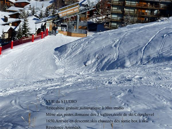 1 studio 3 people ski-in ski-out / RESIDENCE ARIONDAZ (mountain of charm)