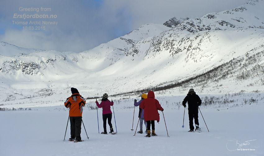 Guided snowshoeing - Ersfjordbotn Kystferie