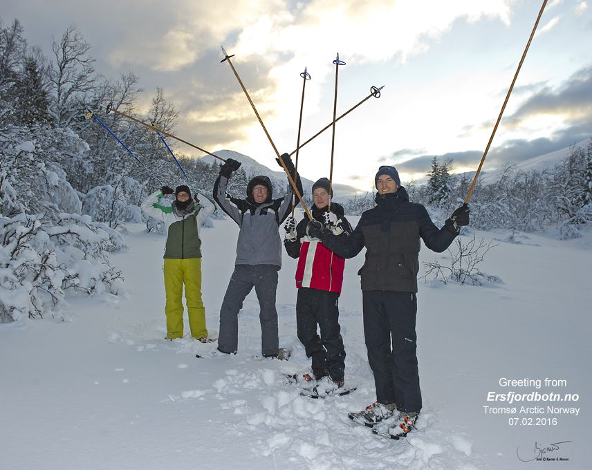 The Green Adventure: Guided snowshoeing