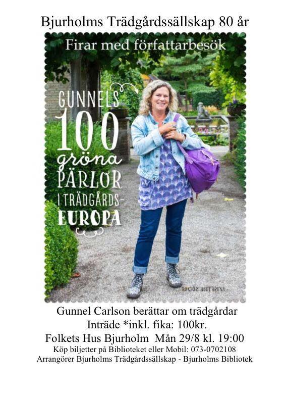 Föreläsning med Gunnel Carlson