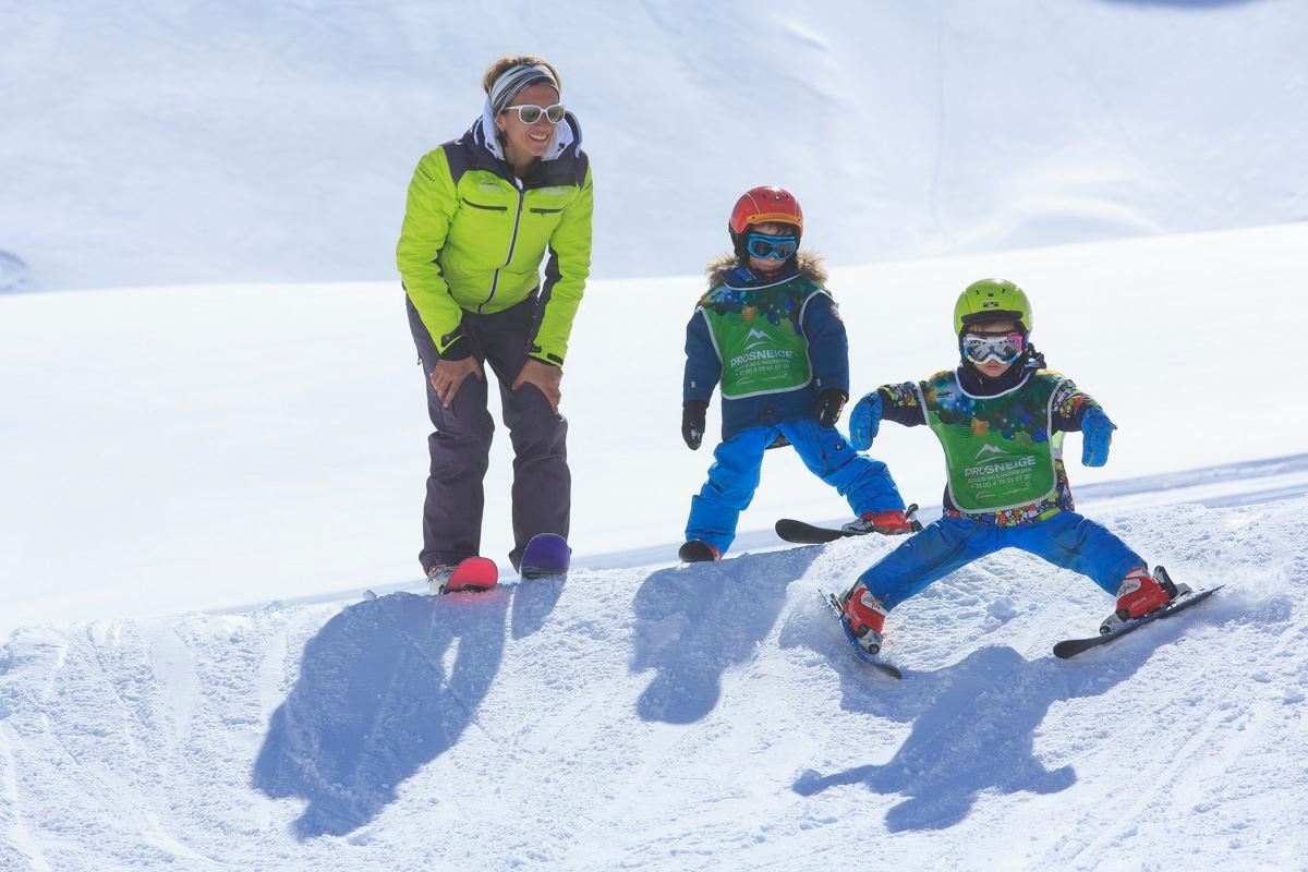 Group ski lessons, 5-12 years children, 6 afternoons