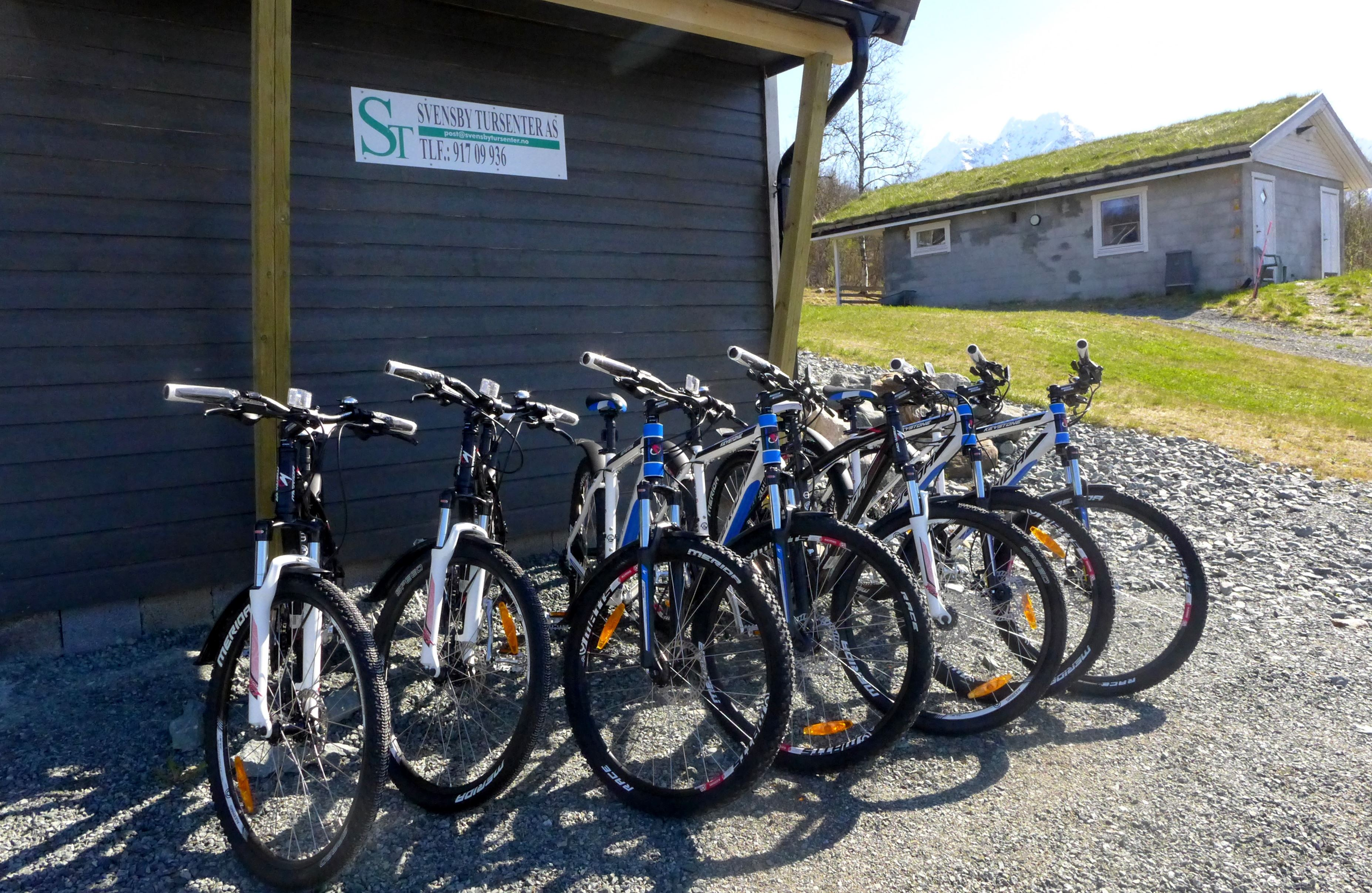 Mountain bikes for rent at Svensby/Lyngen