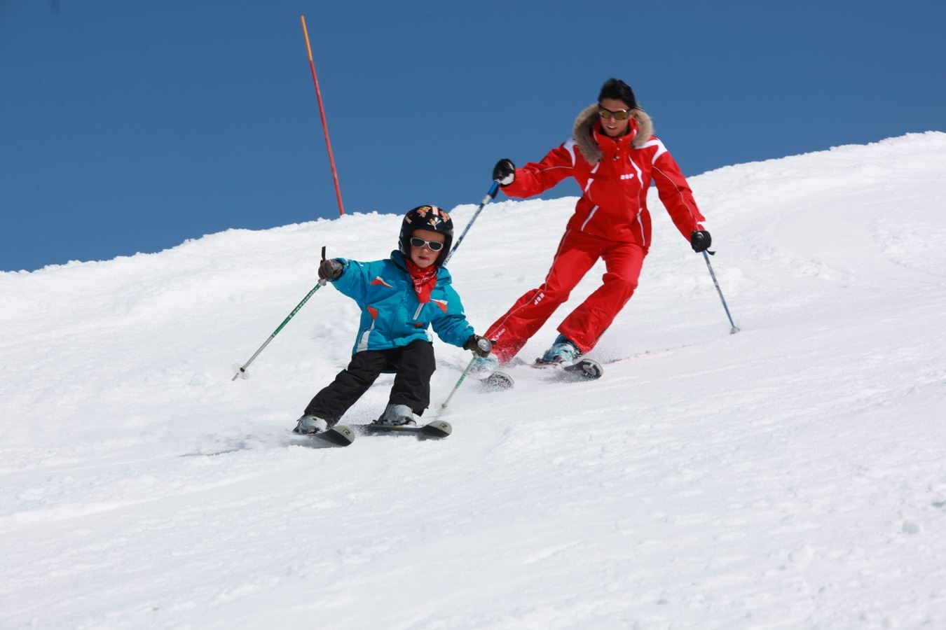 1st ski Formula 6 afternoons: ski lessons + ski passes, for level beginners to 2nd star