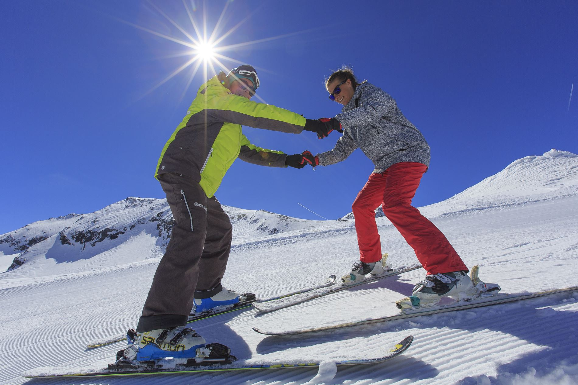 Group Ski Lessons for adults, 6 mornings + 6 afternoons