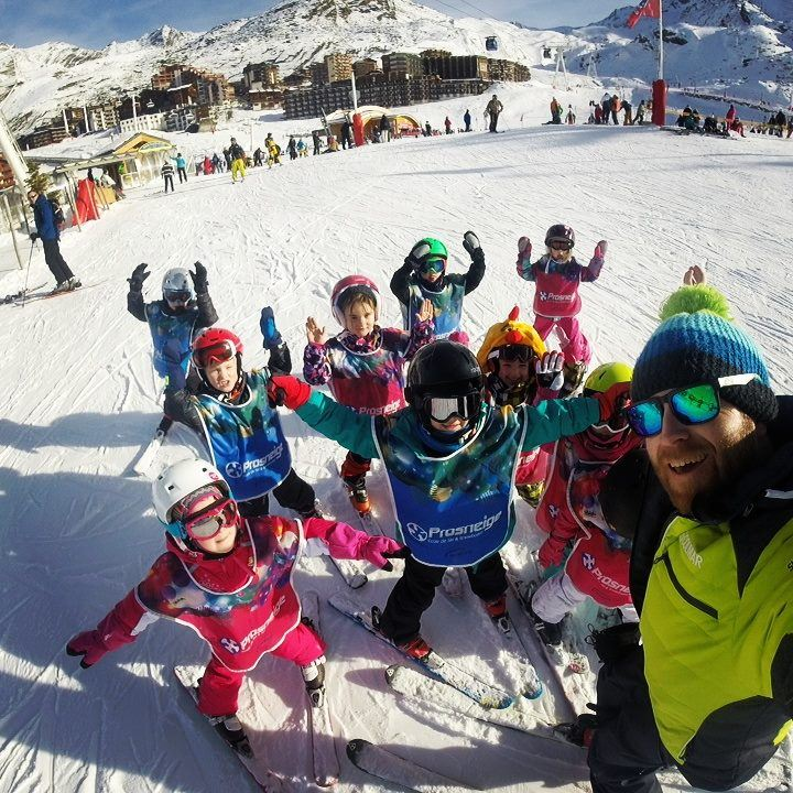 Group ski lessons, 5-12 years children, 5 afternoons