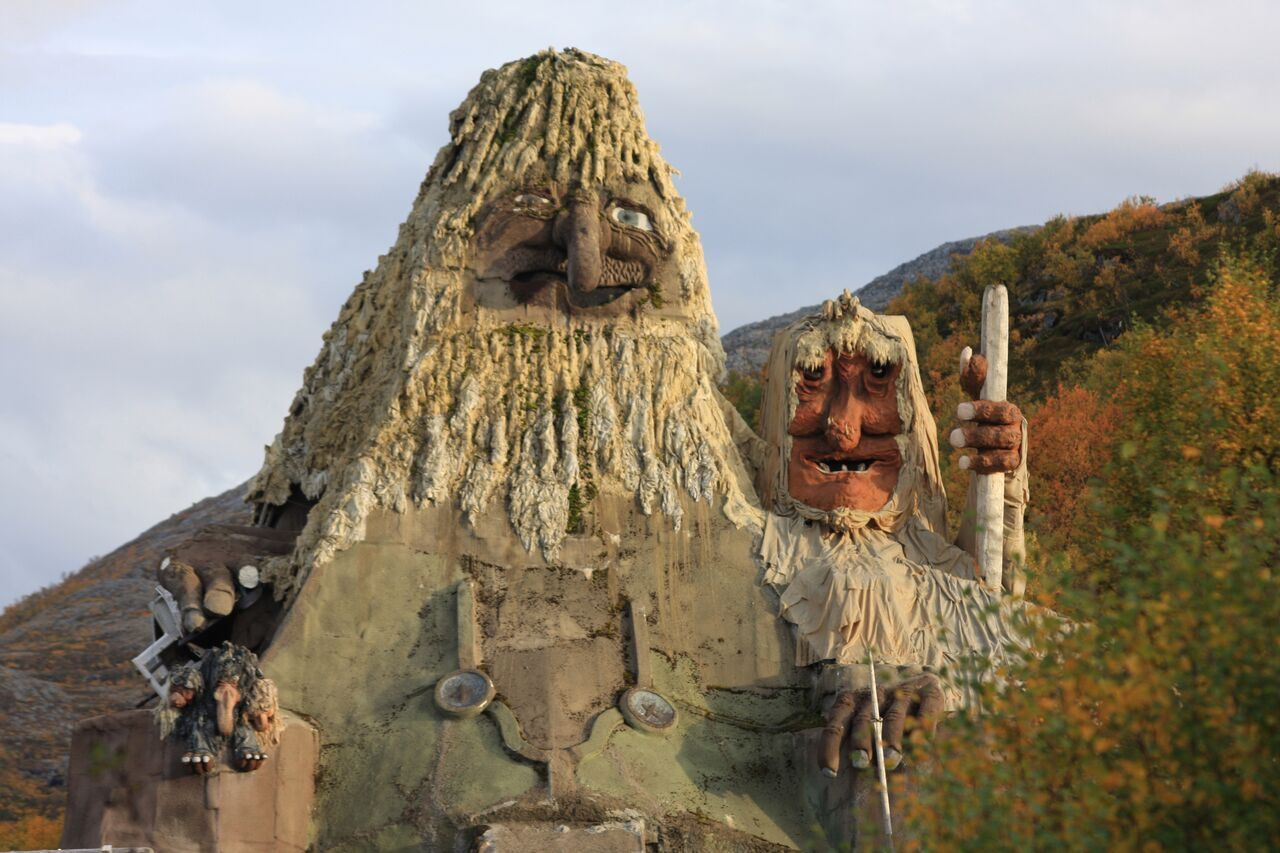 Senjatrollet, Hulder-og Trollparken på Finnsæter i Berg