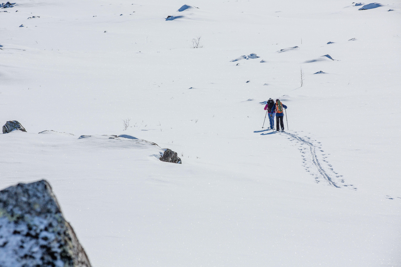 Abisko - Prova på turskidor på Nuolja