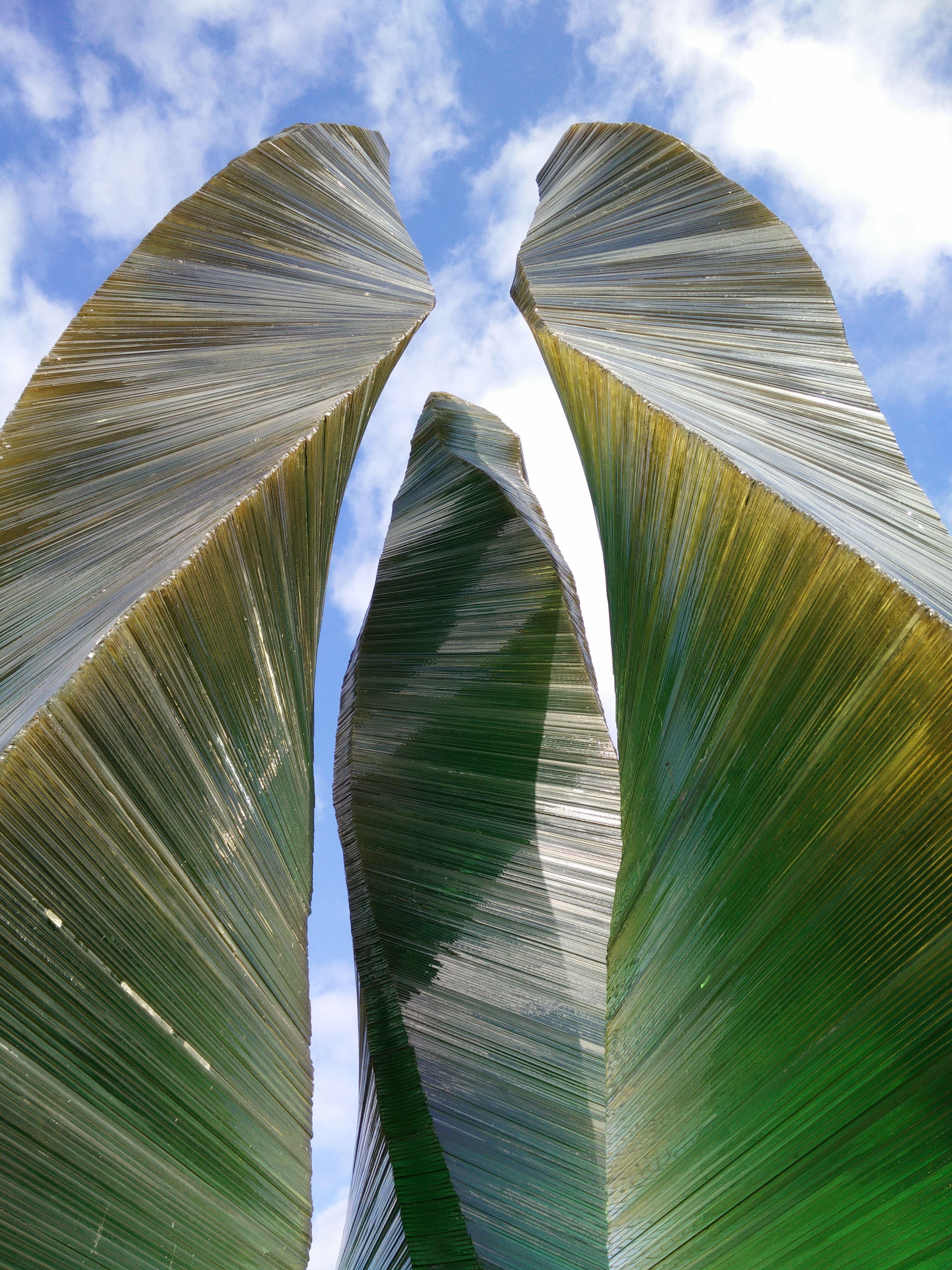 Skulptur Grön Eld