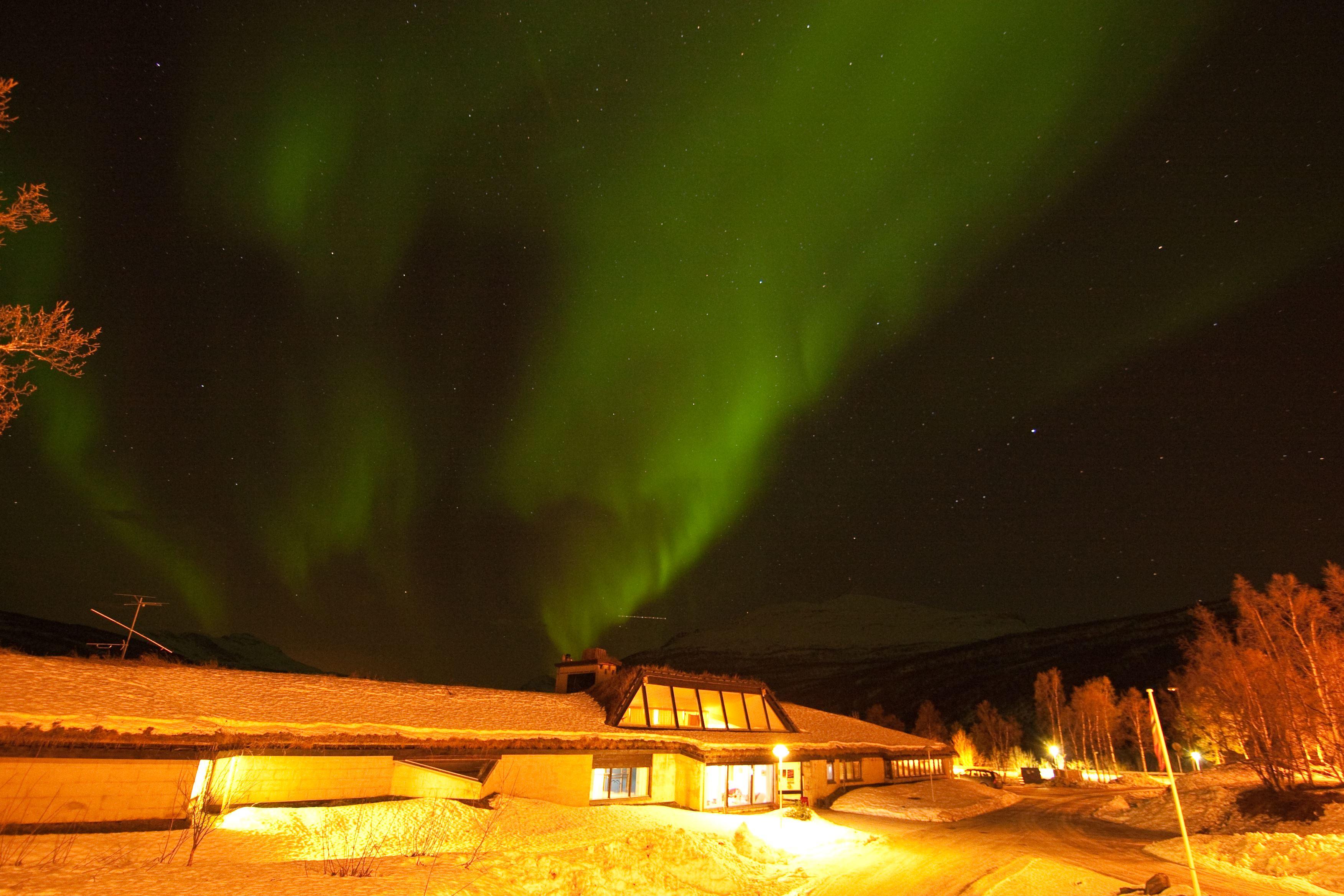 Northern light snowshoe trip with Fjellkysten hotel - Fjellkysten