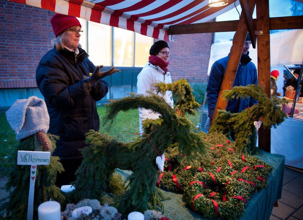 Traditionell julmarknad på Västerbottens museum