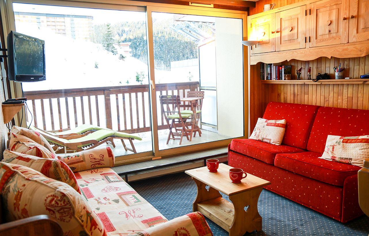 1 studio 3 personnes skis aux pieds / LES GRANDES BOSSES 304 (montagne de charme)