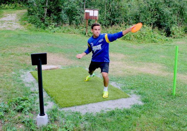 Frisbeegolf og fotballgolf på Lesja