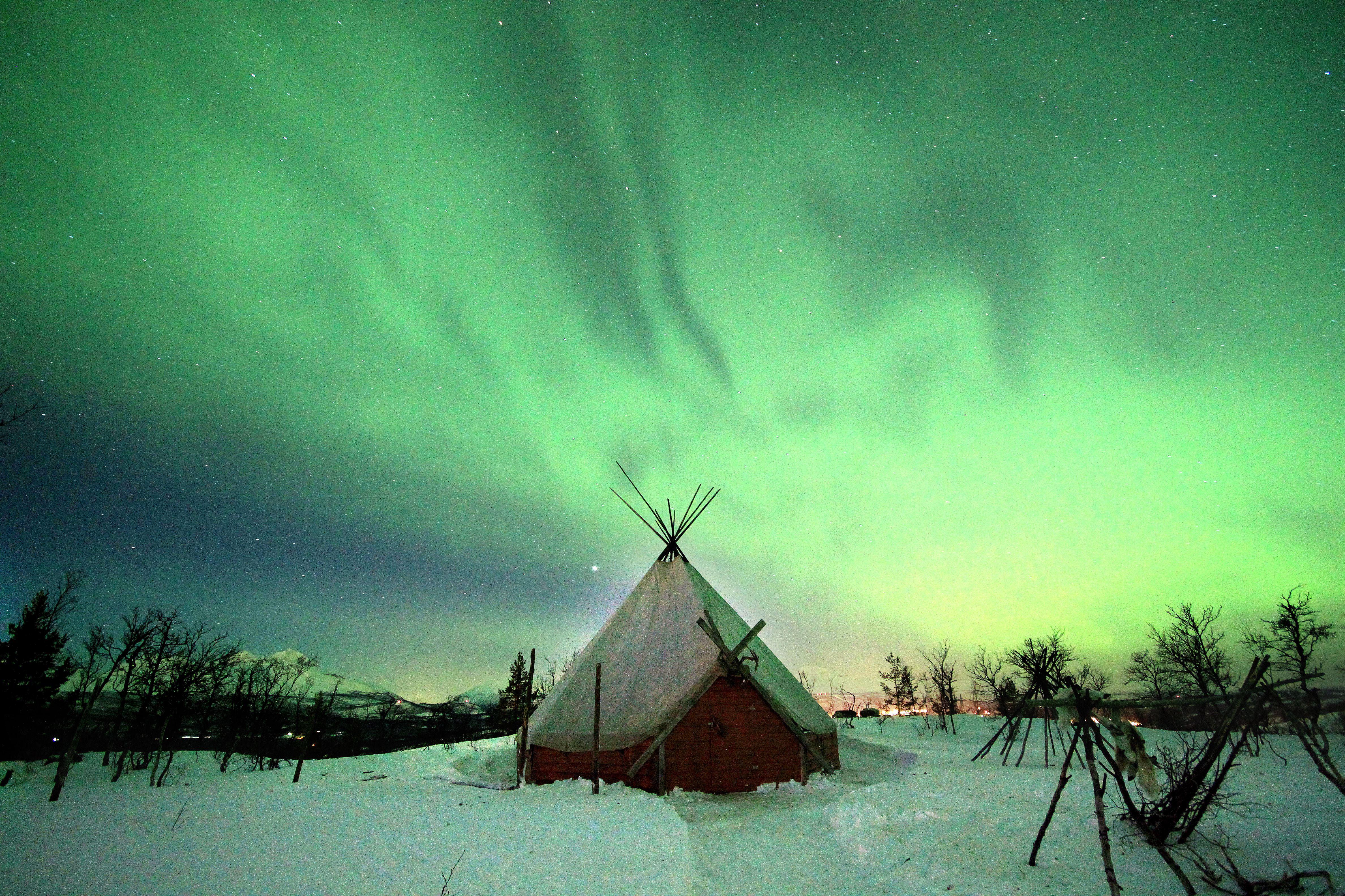 Snowman - Aurora Sky Point From Narvik - Destination Snowman