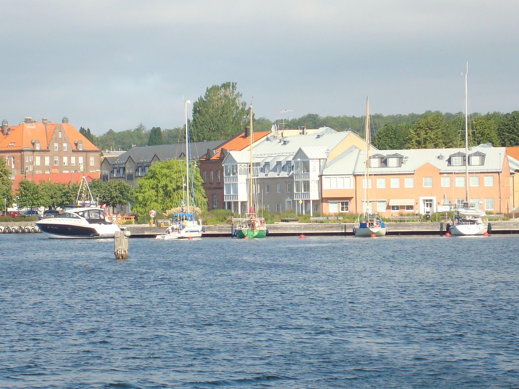 Guest harbour in central Sölvesborg