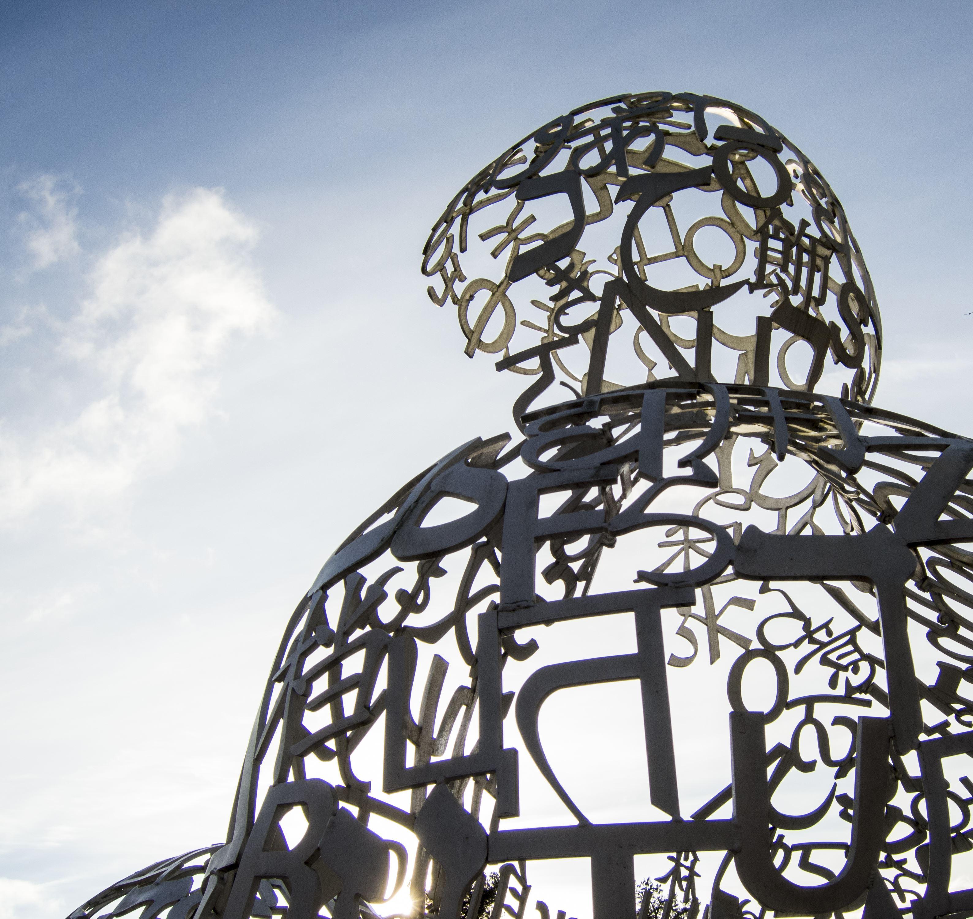 Skulptur Nostros av Jaume Plensa