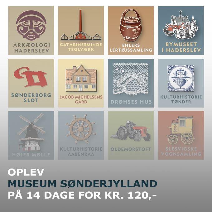Gemeinsame Eintrittskarte für die Abteilungen des Museum Sønderjylland