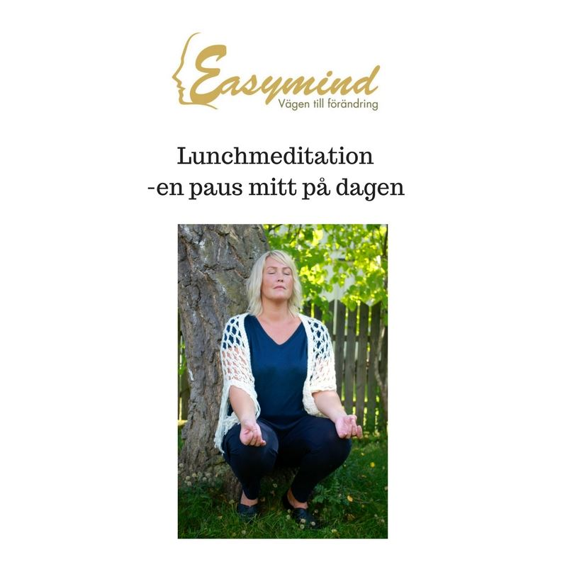 Lunchmeditation mitt i Oskarshamns centrum