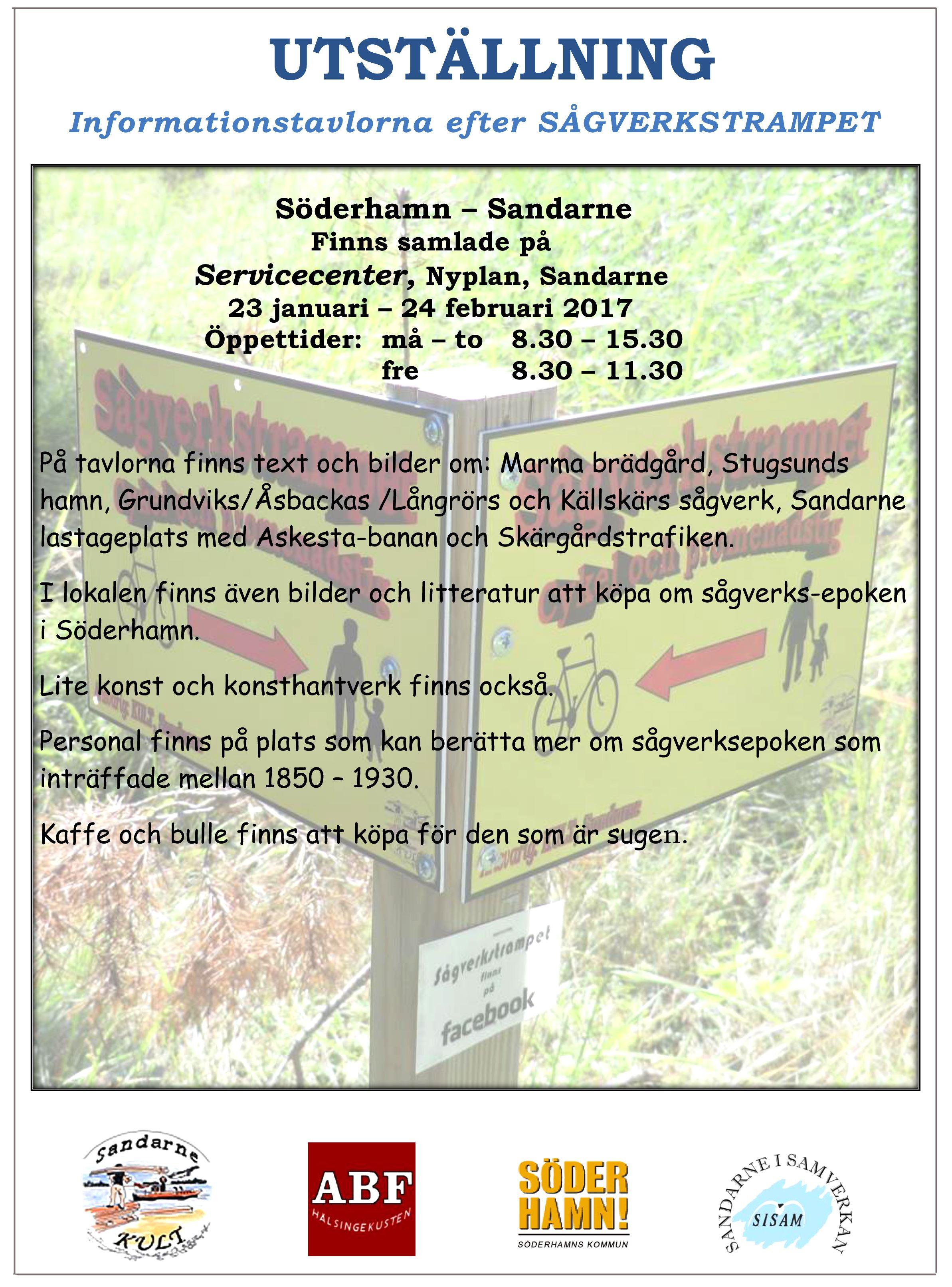 Utställning - Informationstavlorna vid Sågverkstrampet