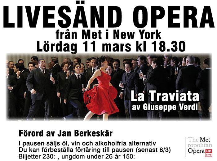 "Livesänd opera ""La Traviata"""