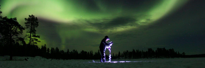 Nordlys og samisk isfiske - Sami Adventure